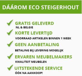 Ecosteigerhout - Tuinset steigerhout